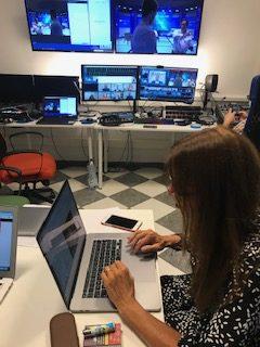Laura Artesio in the control room