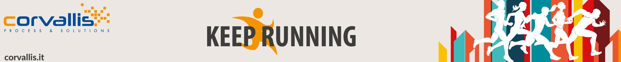 Striscione Corvallis per Padova Marathon 2021